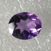 Amethyst Oval Faceted  2.96 Carats