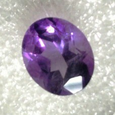 Amethyst Oval Faceted  3.26 Carats