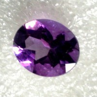 Amethyst Oval Faceted  3.29 Carats