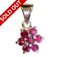 Gem Pendant with Ruby