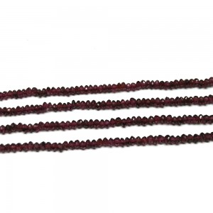 "Wine Red Garnet Faceted Beads of 14"" Inch"