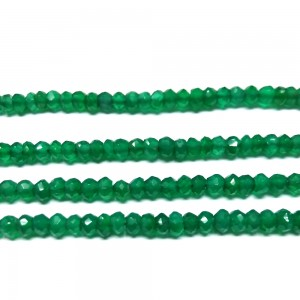 "Onyx Green Faceted Beads of 14"" Inch"