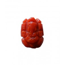 Ganesha in Natural Red Coral 5.91 Carat