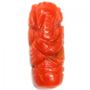 Ganesha in Natural Red Coral 2.05 Carat