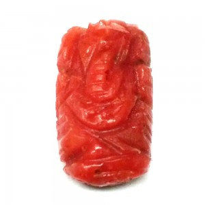 Ganesha in Natural Red Coral  2.24 Carat