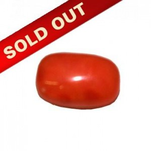 Natural Oval Red Coral 4.74 Carat / 5.21 Ratti