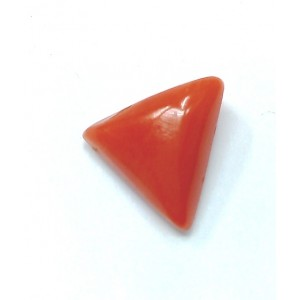 Natural Tringle Red Coral  3.13 Carat / 3.44  Ratti