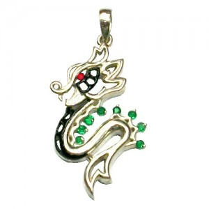 Dragon Pendant in Silver