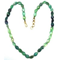 Fluorite multi shaded faceted beads necklace 16 Inch