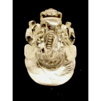 Elephant Head God (Ganesha) in Natural Rock Crystal