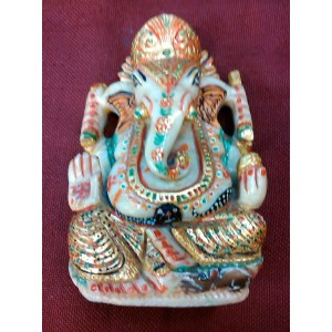 Elephant Head God (Ganesha) in Natural Serpantine.