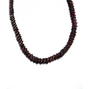 Garnet Chain Necklace of 14 Inch