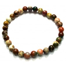 Jasper Bracelet with Round Shaped Natural multi colour Jasper