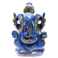 Elephant Head God ( Lord Ganesha) in Natural Lapis Lazully Gemstone 2780 Carats