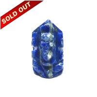 Elephant God ( Lord Ganesha) in Natural Lapis Lazully Gemstone