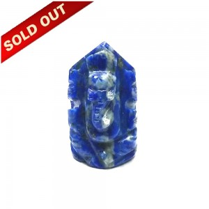 Elephant Head God ( Lord Ganesha) in Natural Lapis Lazully Gemstone