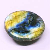 Labradorite Natural Gemstone Oval Chequers Cabochone