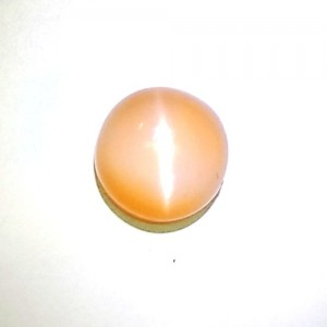 Natural Peach Pink Moonstone Cat's Eye Gemstone 3.01Carat