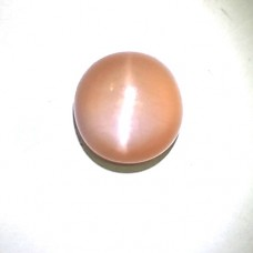 Natural Peach Pink Moonstone Cat's Eye Gemstone 3.76Carat