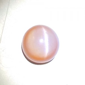 Natural Peach Pink Moonstone Cat's Eye Gemstone 4.34Carat