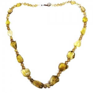 Lemon Citrine faceted beads necklace 20 Inch