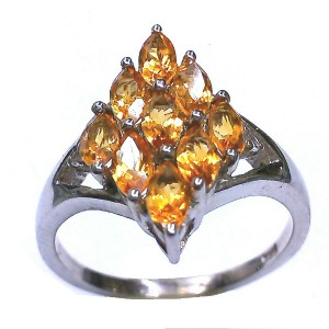 Natural Citrine Ring in Sterling Silver