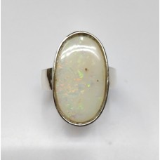 Natural Opal 8.93ct Ring in Sterling Silver