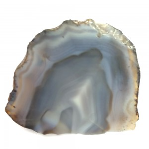 "Banded Agate Geode Slab/Slice- Large-Grade ""A""- Natural Color - 750 Carats"