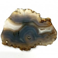 "Banded Agate Geode Slab/Slice- Large-Grade ""A""- Natural Color - 610 Carats"