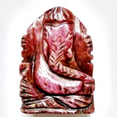 Elephant Head God ( Lord Ganesha) in Natural Ruby Gemstone 47.91 Carats