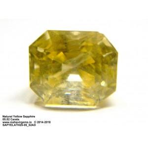 Natural Yellow Sapphire 05.52Carat (6.07 Ratti)