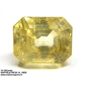Natural Yellow Sapphire 14.18Ct