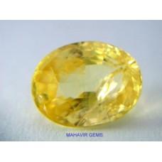 Natural Yellow Sapphire 2.82Ct
