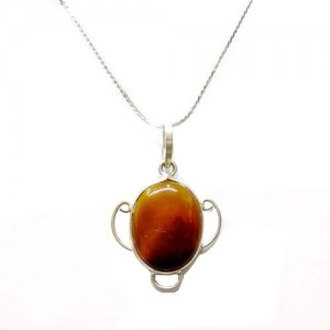 Sard Onyx Pendant handcrafted in Oval Shape