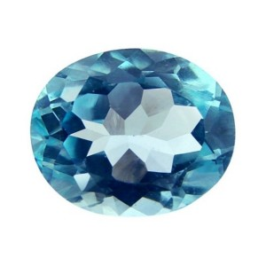 Blue Topaz Natural Gemstone Oval Shaped 2 Carat - 2 Ratti