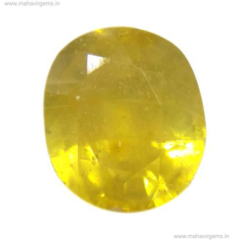 Natural Certified Yellow Sapphire